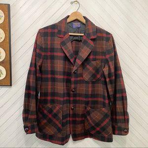 Vintage Pendleton Plaid Wool Shirt Jacket USA Made